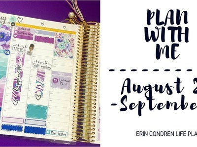 Plan With Me | August 27-September 2 | Erin Condren Life Planner + Shoutout Another YouTuber Collab