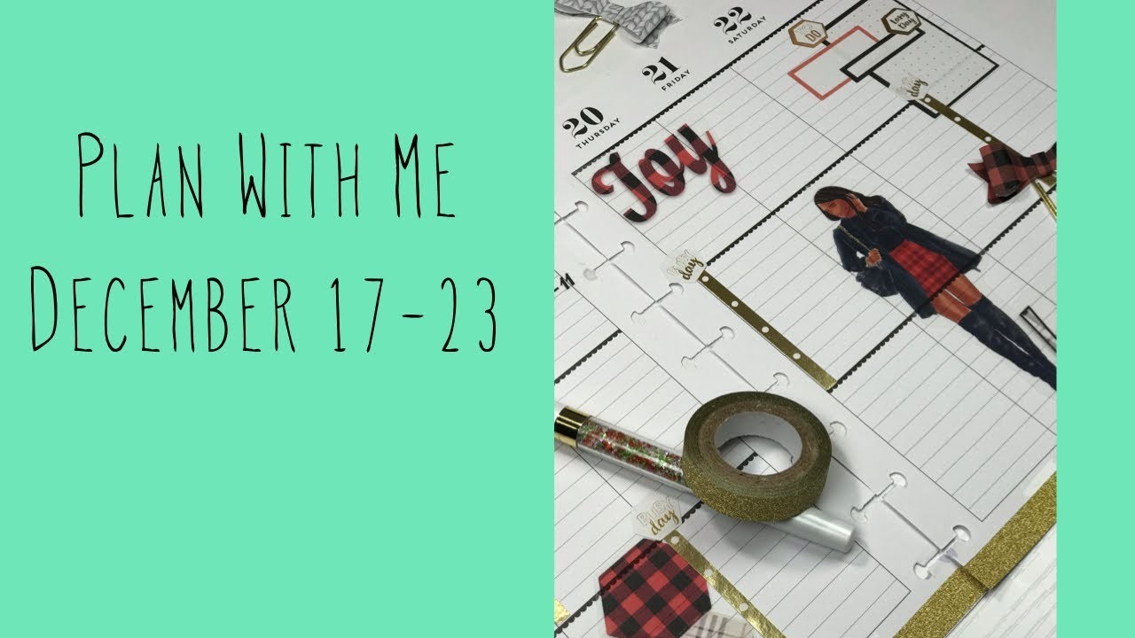 Plan With Me December 17-23| Classic Happy Planner