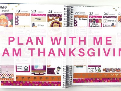 Plan With Me: Glam Thanksgiving. Erin Condren Life Planner