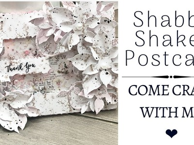 SHABBY SHAKER THANK YOU CARD | MEET MY FAMILY VLOG | COME CRAFT WITH ME