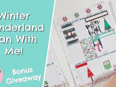 Winter Wonderland Plan With Me In My Happy Planner! + 12 Days Of Planmas GIVEAWAY!