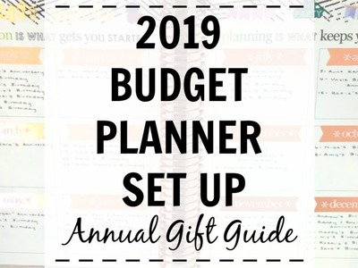 2019 Budget Planner Set Up | Annual Gift Guide | Erin Condren Deluxe Monthly Planner |