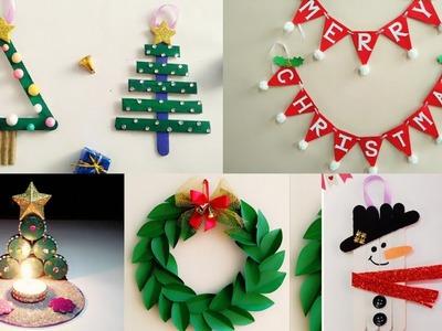 5 Easy Christmas Home Decoration Ideas.Christmas Crafts for Kids School.Christmas Decoration Ideas