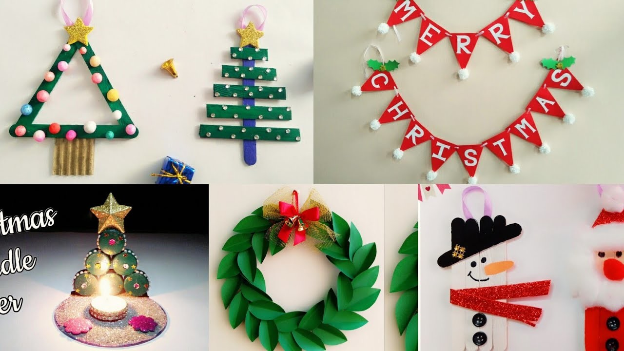 5 Easy Christmas Home Decoration Ideas.Christmas Crafts for Kids School.Christmas Decoration Ideas
