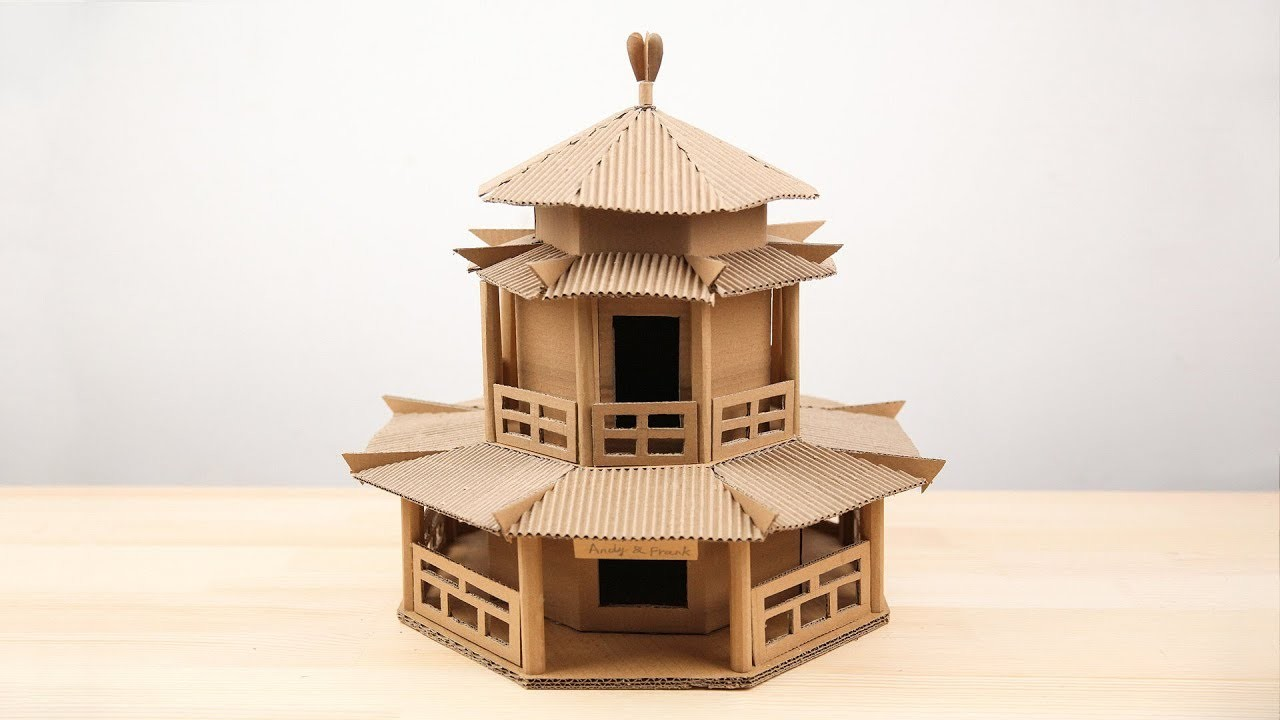 Amazing  How to make a Chinese ancient  building from Cardboard - Simple DIY