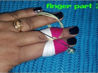 Amazing Trick Finger Part 2 Hand Stitch Design