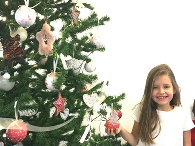 ANYA is Decorating the Christmas Tree with Ornaments  Marry Christmas and a happy New Year