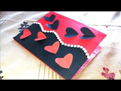 Beautiful handmade Valentine's Day card ideas | DIY Greeting Card for Valentine's Day card |