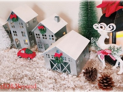 BUDGET-FRIENDLY HOLIDAY HOME TOUR 2018    Winter Wonderland    Red Trucks    Miniature Houses