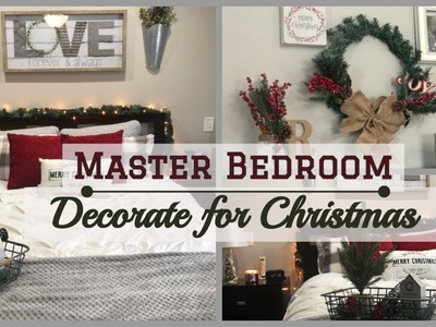 Christmas Bedroom Decor 2018 | Decorate With Me