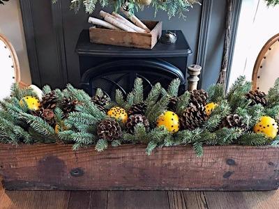 Christmas Day Scented Centerpiece - Orange Pomanders - Christmas Decorating
