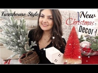 CHRISTMAS DECOR HAUL | TARGET + HOBBY LOBBY | FARMHOUSE STYLE!