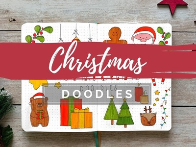 CHRISTMAS DOODLES | Draw With Me | BUJOANDCOOKIES