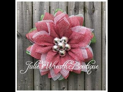 Christmas Poinsettia Wreath . Facebook Live Replay