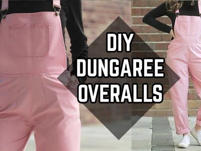 DIY Dungaree Overalls from Tablecloth. DIY overal z obrusu (SK, EN sub)