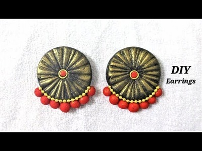 DIY   Easy To Make Polymer Clay Earrings.Studs | Jewelry Making Tutorial