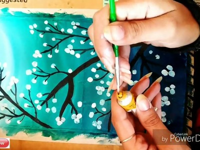 DIY Very Easy Beautiful beginners Oil painting.Easy way to make oil painting at home. #tulikajagga