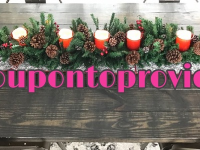 Dollar Store Christmas Decor Featuring King Dollar | Let's make a 6ft garland centerpiece!