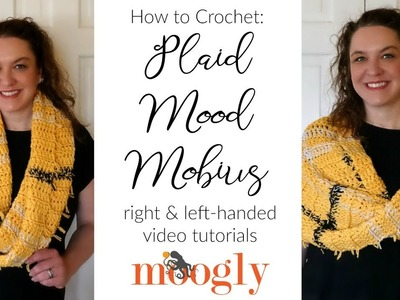 How to Crochet: Plaid Mood Mobius (Left Handed)