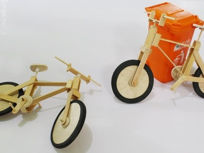 How to Make Toys Fixie Bikes from Popsicle Stick
