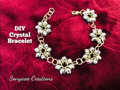 Latest Fashion Bracelet with Jump rings and crystals.