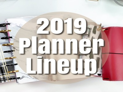My 2019 Planner Line | Coils, Discs, and Strings | Which Planners I'm Using and How | Planmas Day 11