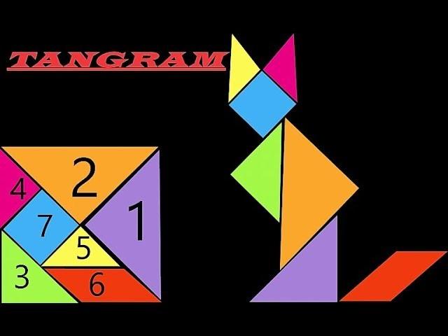 TANGRAM    Evergreen Puzzle    DIY How to Make TANGRAM