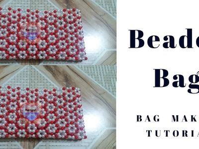 পুতির ব্যাগ.পুতির বকুল ফুল ব্যাগ.How To Make Beaded Bag.putir bag