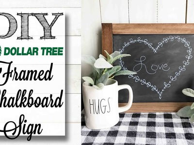 DIY Dollar Tree Framed Farmhouse Chalkboard Art