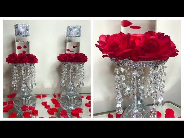 DIY DOLLAR TREE VALENTINES DAY CHANDELIER CANDLE HOLDERS 2019 ❤️ MEET THE NEW LOVE IN MY LIFE ❤️