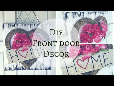 DIY FRONT DOOR DECOR | DIY SPRING WREATH