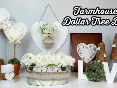 DOLLAR TREE DIYS | VALENTINE'S DAY DECOR | NEUTRAL & FARMHOUSE INSPIRED