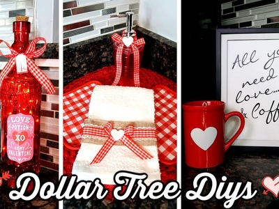 DOLLAR TREE DIYs | VALENTINE'S DAY KITCHEN DECOR