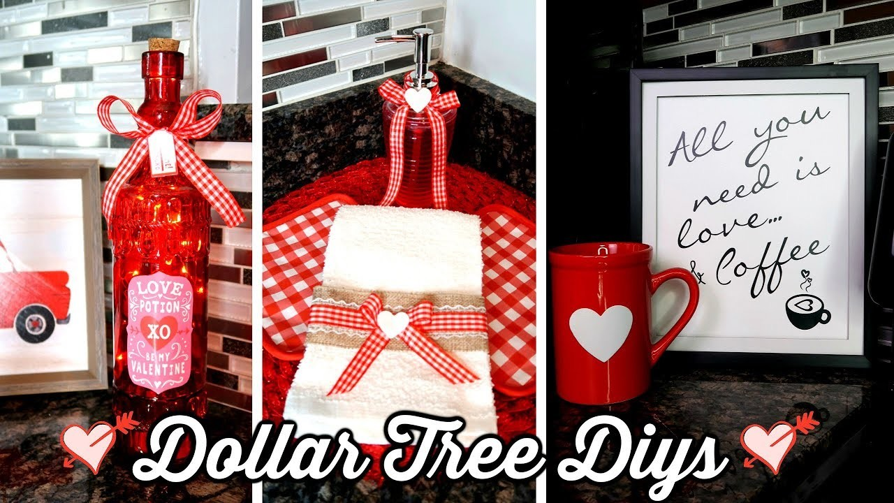 DOLLAR TREE DIYs | VALENTINE'S DAY KITCHEN DECOR