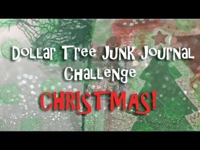 Dollar Tree Junk Journal Challenge. Christmas Edition!!!
