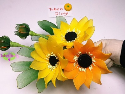 Easy and Beautiful Sunflower Making with Nylon stockings ????