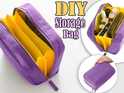 FANTASTIC DIY ZIPPER PURSE BAG. Cosmetics Travel Bag Tutorial in 20 Min