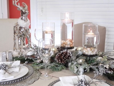 HOW TO CREATE A WINTER WONDERLAND TABLESCAPE + CHRISTMAS 2018 SHOPPING HAUL + GIVEAWAY