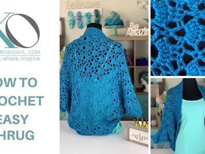 How to Crochet Easy for Beginner Gillian Crochet Shrug