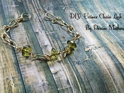 How to Make a DIY Unisex Chain Link Bracelet By Denise Mathew