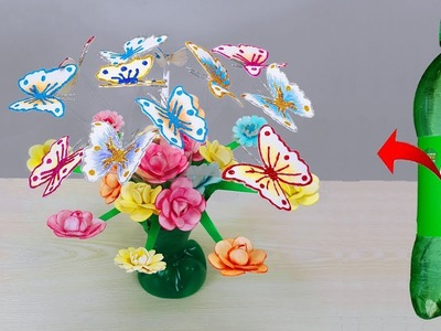 How to Make Beautiful Flower and Butterfly. Room decoration ideas