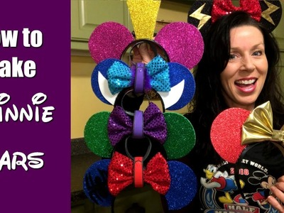 How to make Minnie Mouse Ears for runDisney (or other) races!