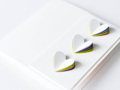 How to make : Valentine Card with Hearts | Kartka Walentynkowa z Sercami - Mishellka #325 DIY