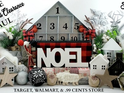 HUGE Christmas Clearance Haul! ~ Farmhouse Home Decor Haul ~ Target, Walmart, & .99 Cents Store!