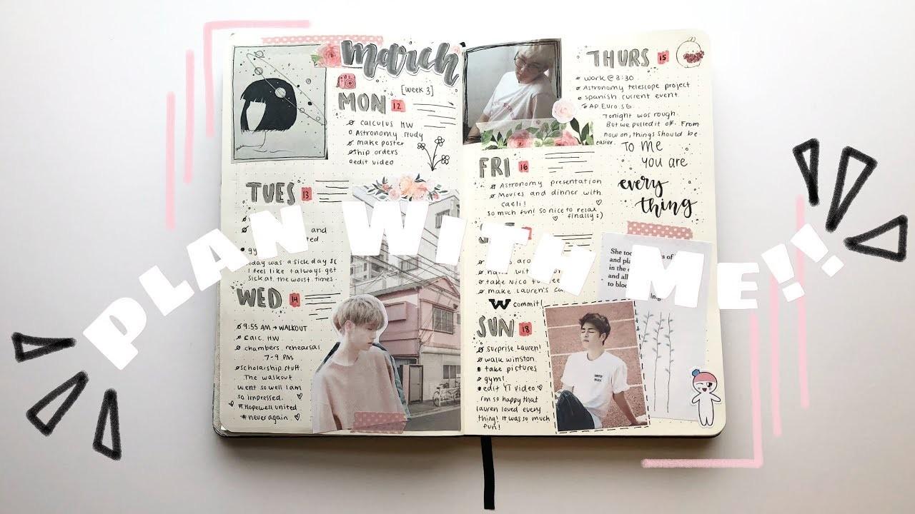 Kpop Bullet Journal Plan with Me! ???? || March Week 3 Spread