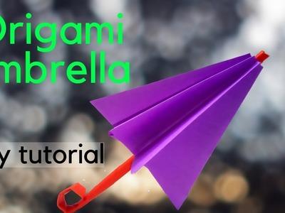Kids Craft Easy Origami Paper Umbrella DIY Tutorial | 300x400