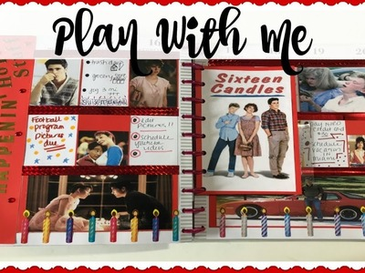 PLAN WITH ME | 80s MOVIE THEMES WEEK | SIXTEEN CANDLES