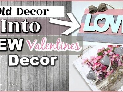 Reusing Old Home Decor Into NEW | DIY Valentines Day Home Decor | Krafts by Katelyn