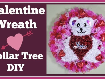 Valentine Wreath ???? Dollar Tree DIY