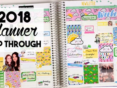 2018 Planner Flip Through | A Year's Worth of Spreads